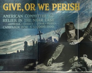 "Largest poster 9-by-14 foot ""Give or Perish"""