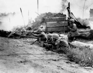 Korean-War photo - taken on the 21st of September. Photo, U.S. National Archives.
