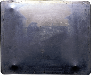 World's first photograph - Original Plate